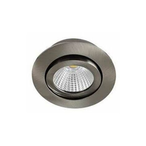 Spot LED Lowy RDX - Orientable - 8W - 600Lm - Rond - Nickel satiné - Dimmable