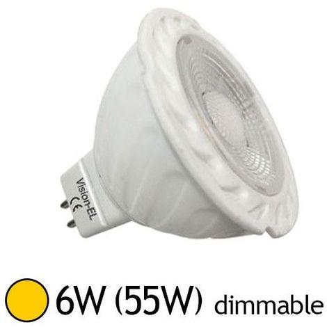 Spot LED MR16 GU5.3 6W 38° équivalent 50W Dimmable