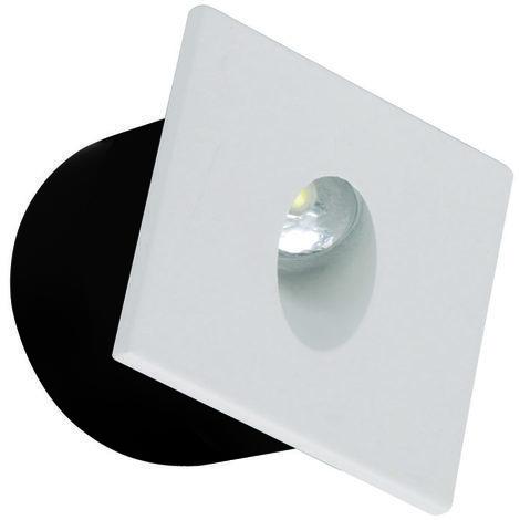 Spot LED mural carré blanc 3W (Eq. 25W) 4000K Dim 80x80mm
