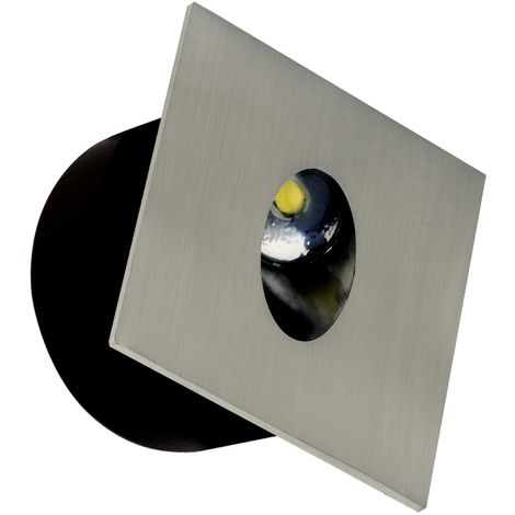 Spot LED mural carré matchrome 3W (Eq. 25W) 4000K Dim 80x80mm