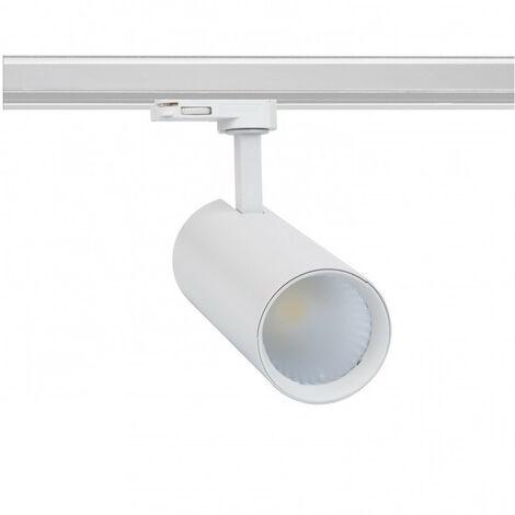 Spot LED New Bertha 30W Blanc LIFUD pour Rail Triphasé (3 Allumages) Blanc Froid 5500K - 6000K - Blanc Froid 5500K - 6000K