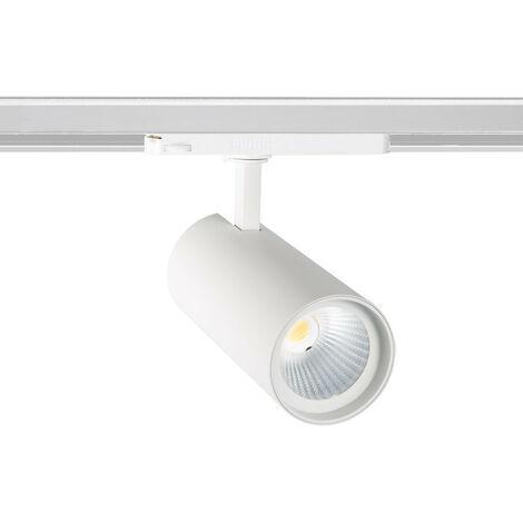 Spot LED New d'Angelo 30W Blanc LIFUD pour Rail Triphasé (3 Allumages) Blanc Chaud 3000K - 3500K - Blanc Chaud 3000K - 3500K