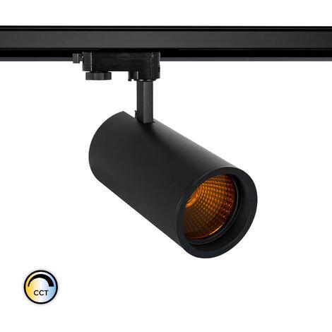 Spot LED New d'Angelo 40W Noir CCT Spécial Alimentation LIFUD avec Crystal pour Rail Triphasé (3 Allumages) Marron - Marron