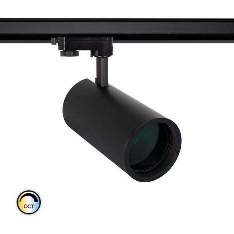 Spot LED New d'Angelo 40W Noir CCT Spécial Alimentation LIFUD avec Crystal pour Rail Triphasé (3 Allumages) Vert - Vert