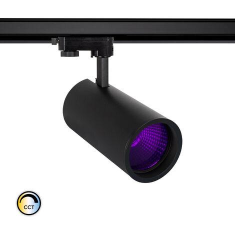 Spot LED New d'Angelo 40W Noir CCT Spécial Alimentation LIFUD avec Crystal pour Rail Triphasé (3 Allumages) Violet - Violet