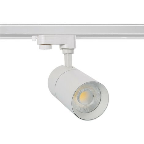 Spot LED New Mallet 20W Blanc pour Rail Triphasé