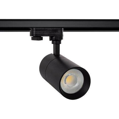 Spot LED New Mallet 20W Noir pour Rail Triphasé