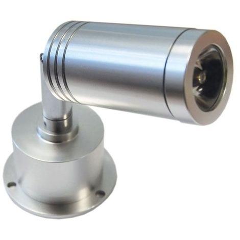 Spot led orientable double articulation - : - Type d'éclairage : LED - Longueur : 111,5 mm - Température de couleur : 4000 K - Puissance : 3 W - : - Fixation : Sur platine - Couleur de la lumière - Puissance : 3 W