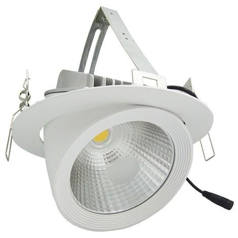 Spot LED orientable escargot 30W   Température de Couleur: Blanc neutre 4000K