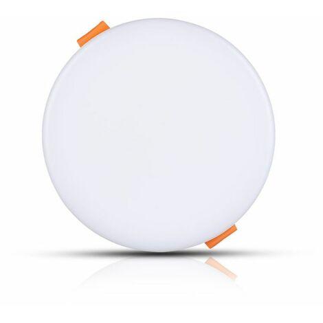Spot LED Plat  Pro 12W Avec Patte De Fixation Ajustable Samsung Chip Rond Blanc Avec Transfo Vt-610rd