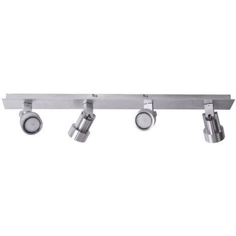 Spot LED pour plafond, ALU, chrome, spots orientables, L 74 cm