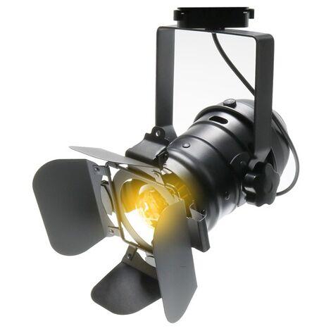 Spot LED pour Rail Cinema Movie 1XE27 Monophasique   IluminaShop