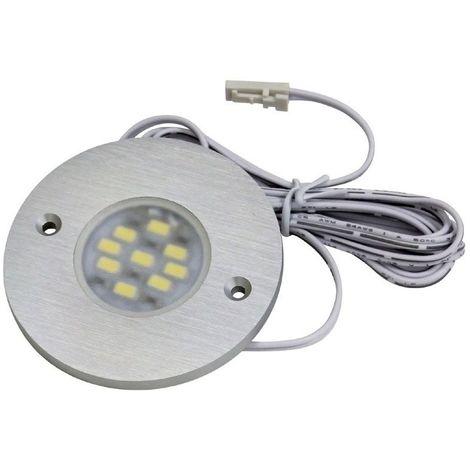 Spot led rond extra-plat - 9 led - 12 v - 3 w - : - Type d'éclairage : LED - Température de couleur : 6000 K - Puissance : 3 W - : - Fixation : En applique - Couleur de la lumière : Blanc froid - - Fixation : En applique