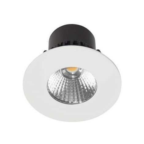 Spot LED rond HD1014 R-230 7w 600lm 3000k IP65 blanc mat (DO17630)