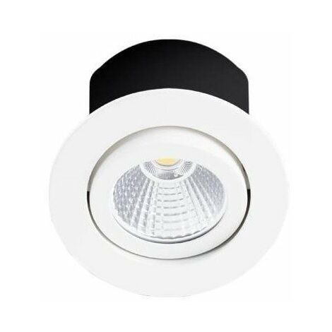Spot LED RT1014 RDX-230 - Orientable - 7.5W - 600Lm - Rond - Blanc mat - Dimmable