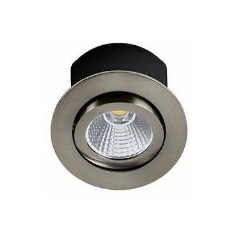 Spot LED RT1014 RDX-230 - Orientable - 7.5W - 650Lm - Rond - Nickel satiné - Dimmable