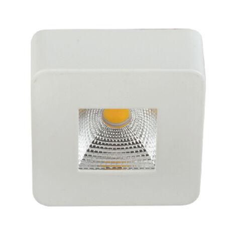 Spot LED saillie carré EVA-6 5W (Eq. 60W) 3000K Blanc Dim.62x62mm