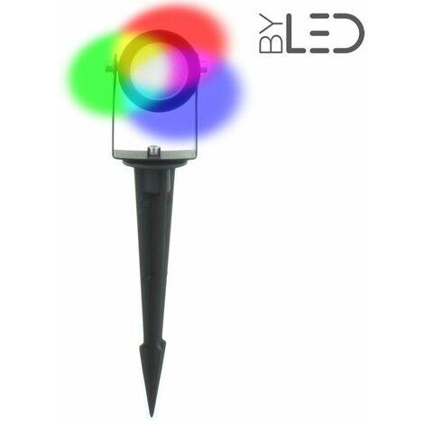 Spot LED sur piquet 4W - RGB + Blanc chaud (Spike 4)