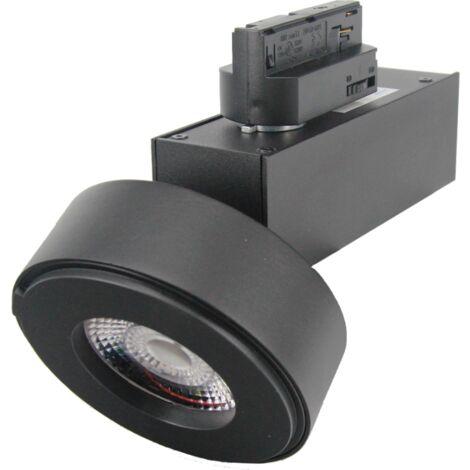 Spot LED sur rail 12W 38 Monophasé NOIR