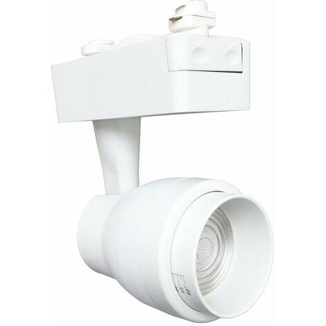 Spot LED sur Rail 15W Multi-angle COB Monophasé BLANC