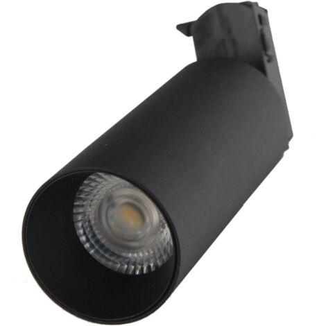Spot LED sur rail 18W 38 Monophasé NOIR