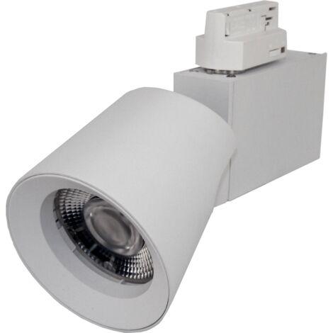 Spot LED sur rail 25W 38 Triphasé BLANC