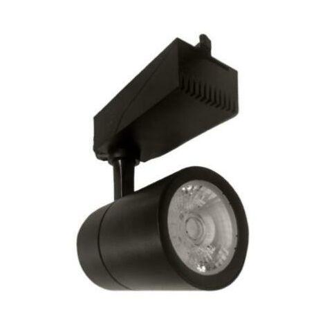Spot LED sur Rail 30W 80 Triphasé NOIR