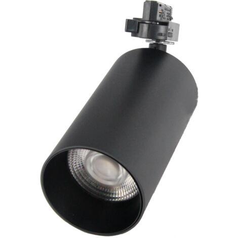 Spot LED sur rail 32W 38° Monophasé NOIR