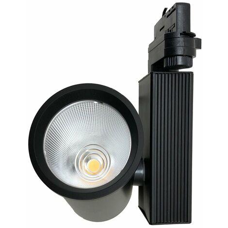 Spot LED sur Rail 35W 80 COB Triphasé NOIR