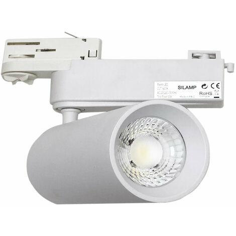 Spot LED sur Rail 40W 80 COB Triphasé BLANC