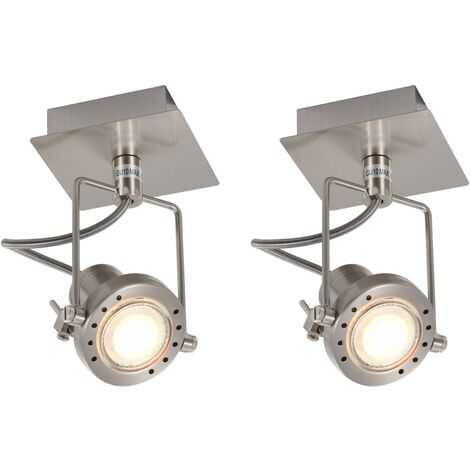 Spot Lights 2 pcs Silver GU10
