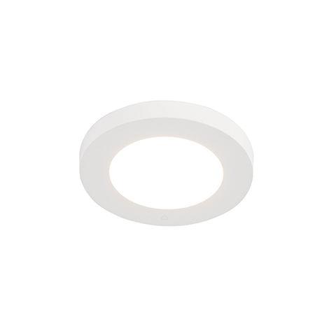 Spot Moderne encastrable ou en saillie blanc 11,7 cm avec LED - Trans Qazqa Moderne Luminaire interieur Rond