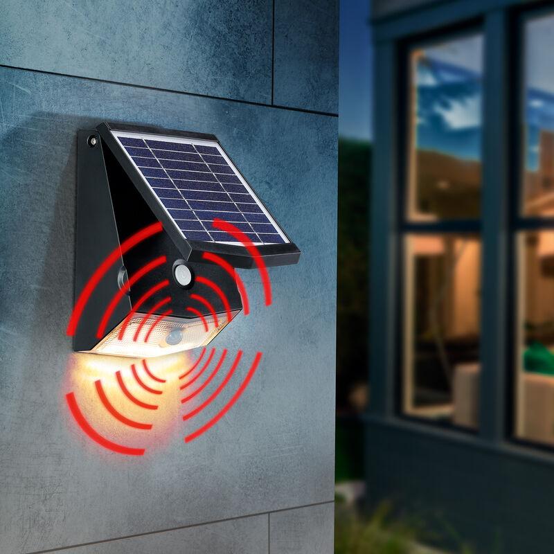 Spot mural à capteur solaire 500 lm applique murale dextérieur jardin esotec 102270