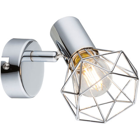 Spot mural avec télécommande Dimmable Cage Spot Lamp réglable en kit avec ampoules LED RGB