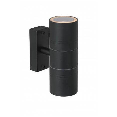 Spot Mural Extérieur Arne LED - D6,3 cm - GU10 - 2x5W 2700K - IP44 - Noir - Noir
