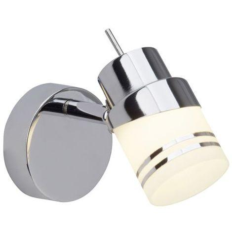 Spot patére HEDA 1x4W LED intégrée ACIER CHROME