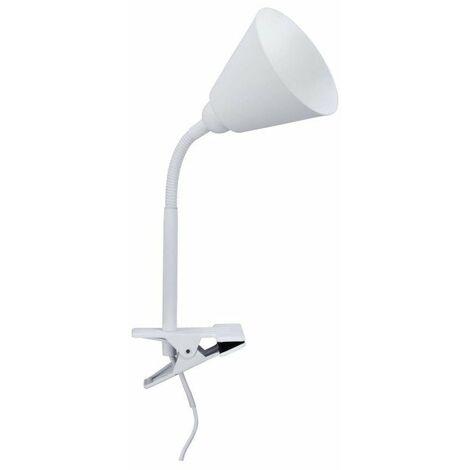 Spot pince Vitis avec bras flexible - E14 - 20W - Blanc