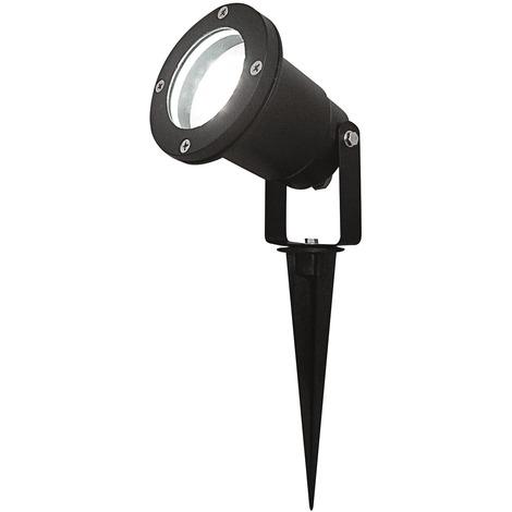 Spot piquet extérieur LED Lumihome - Lumière blanche - Spot : noir Lumière : blanc