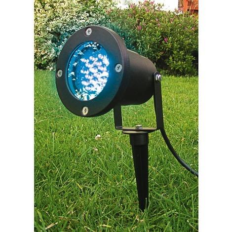 Spot piquet LED multicouleur extérieur avec télécommande Lumihome - Spot : noir Lumière : Rouge, vert ou bleu