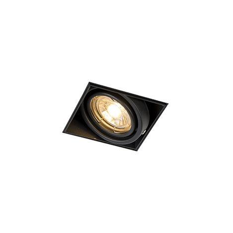 Spot pivotant et inclinable noir intégré - Oneon 1 Trimless Qazqa Moderne Cage Lampe Luminaire interieur