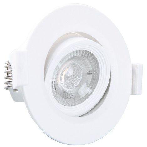 Spot plafond encastrable orientable LED 3W (30W) Blanc neutre 4000°K Angle 38°