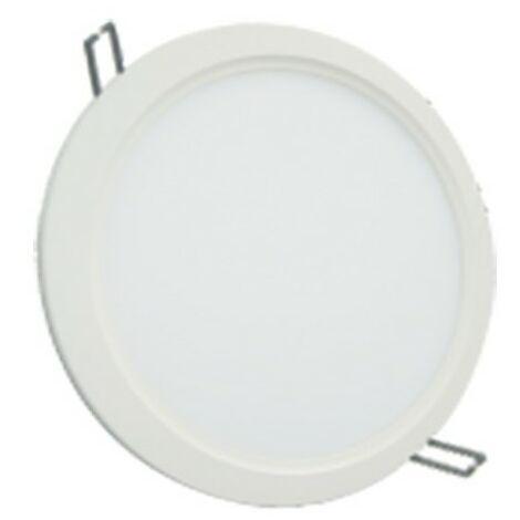 Spot plafonnier LED downlight rond ultra plat - 12W 4000K - Blanc neutre