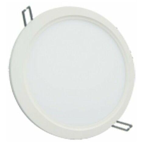Spot plafonnier LED downlight rond ultra plat - 18W 4000K - Blanc neutre