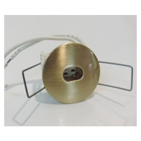 Spot pour meuble Ø 40mm doré satiné pour caps halogène 20W G4 (non fournie) H25mm Luciole TRAJECTOIRE 116033