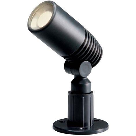 Spot projecteur à piquer ALDER 2W GU5.3 MR11 IP44 Blanc Chaud Orientable éxterieur Garden lights ampoule fournie - GL258006
