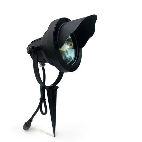 Spot projecteur à Piquer Alu Noir OPTIMUM GU10 MR30 IP67 Orientable extérieur EASY CONNECT ampoule fournie - 65300