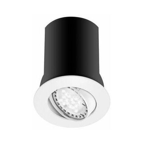 Spot RT1014 RX - GU10 - Orientable - 10W - Sans ampoule - Rond - Blanc