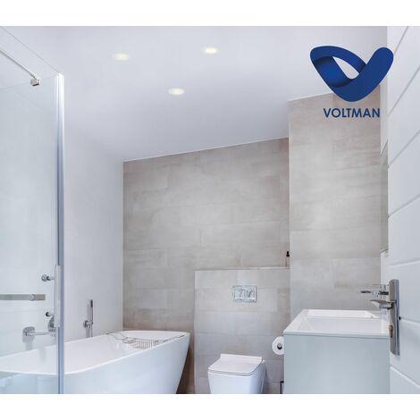 Spot salle de bain STELA en alu - dimmable - VOLTMAN - IP65 9W-2700K à 4000K 550Lm - Argenté