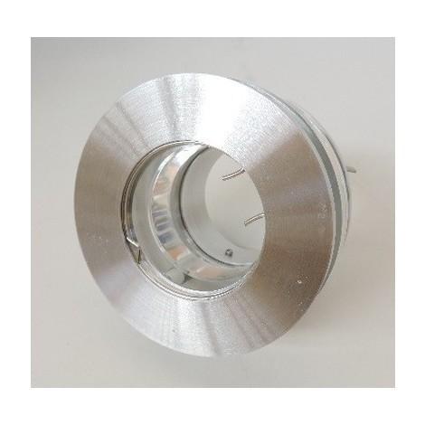 Spot semi encastré fixe Ø 90mm alu brossé pour lampe GU5.3 12V (non incl) sans transfo IP20 ABRIVAR TRAJECTOIRE 112700