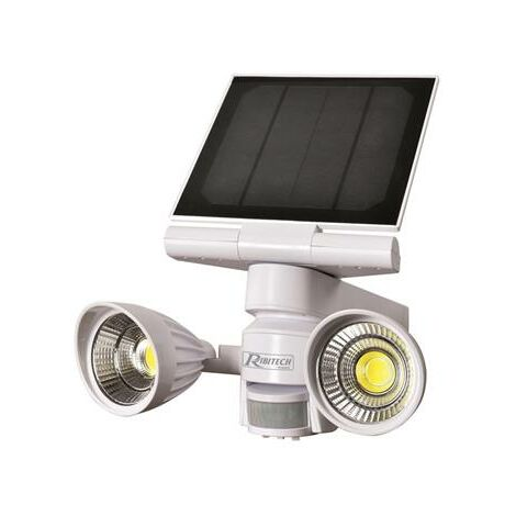 Spot solaire 2x5w led 600 lumens avec détecteur